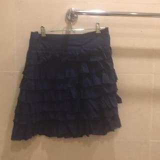 Navy Frilled Skirt