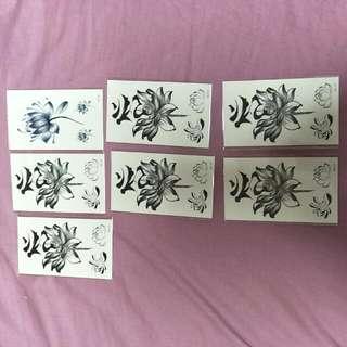 🚚 蓮花 刺青貼紙7張 (7張全部帶走)