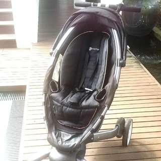 Preloved 4MOMS Auto Folding Stroller/ Pram