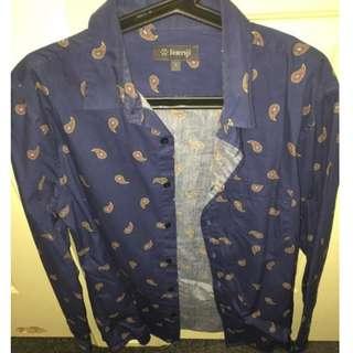 Kenji Pattern Shirt  (Size Large)