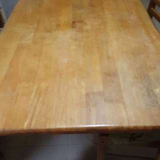 Wood dining table only