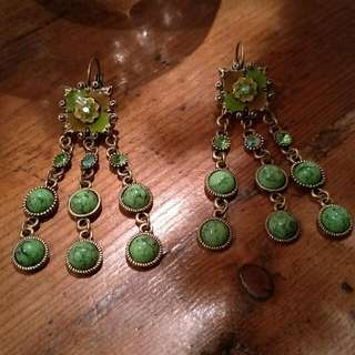 Gorgeous Handmade Green Drop Earring