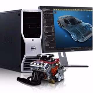 Dell Precision T5400 Mini Tower System - Dual Processor