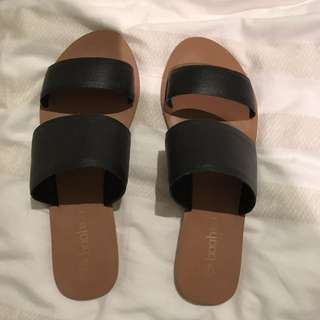 Black Slides/slip On Sandles