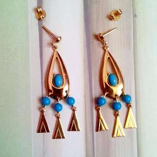 BN Vintage Gold Coloured Drop Earrings