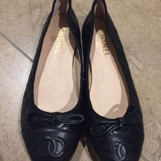 Chanel Cc Logo Classic Quilted Flats
