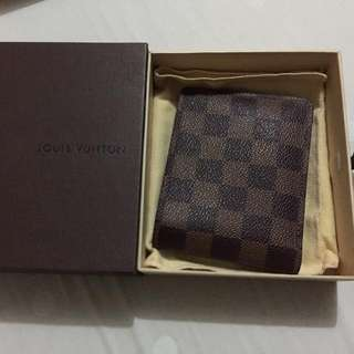 Multiple Wallet Damier Ebene Canvas - Authentic 100%