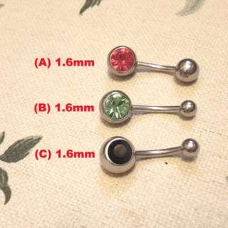 鈦鋼臍環 Navel Rings