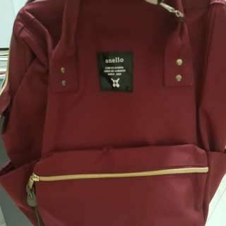 Anello Backpack (Wine Red/Maroon)