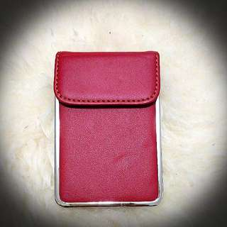 Card Holder Red Chrome Details