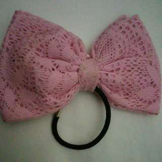 Oversized Lace Pink Pastel Bow (Cute Japanese Style)