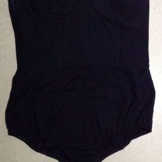 Sass And Bide Navy Strapless Bodysuit