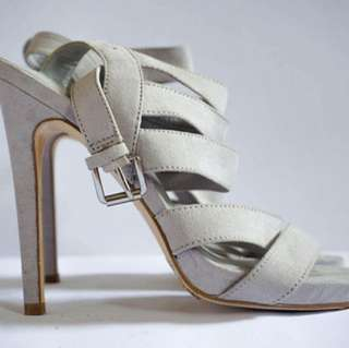 Size 6 Forever21 High-heels Sandals (Gray)