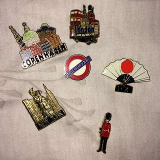 International Lapel Pins From Travelling