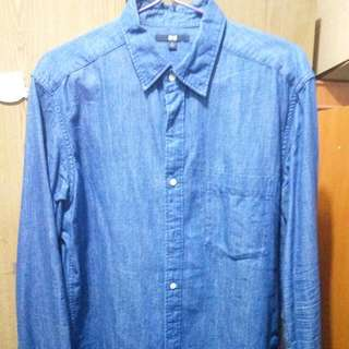 UNIQLO Denim Shirt L Size