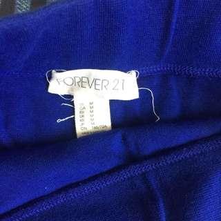Forever 21 Blue Bodycon Skirt