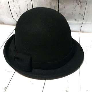 MISMEMO印計谷羽  側蝴蝶結100%羊毛帽