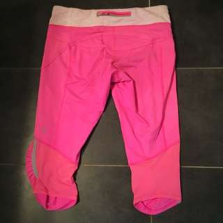 Hot Pink Lululemon Cropped Pants