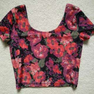 Floral Crop Top - Small