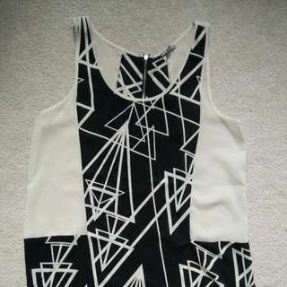 Black And White Tank - Small