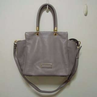 AUTHENTIC Marc by Marc Jacobs women bag Too Hot To Handle Bentley Tote shoulder sling cement grey