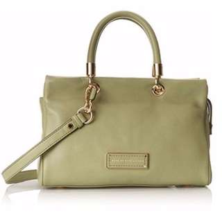 AUTHENTIC Marc by Marc Jacobs women bag Too Hot To Handle Satchel Crossbody Sling light rosemary grey green