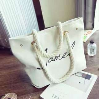 White Canvass Tote Bag