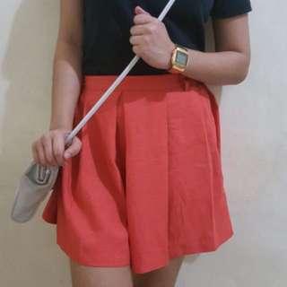 Peach Pleated Skirt
