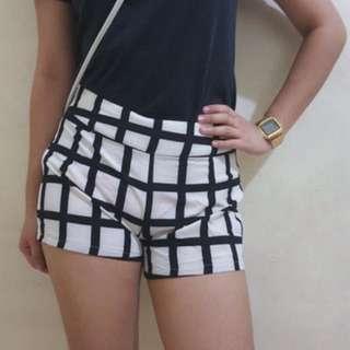 Black And White Shorts
