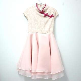 Kids Pink Cheongsam Dress