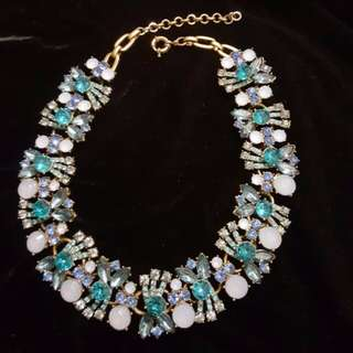 Sale! Blue Bejewelled Necklace (20% off listed price if purchased confirmed before 4th)