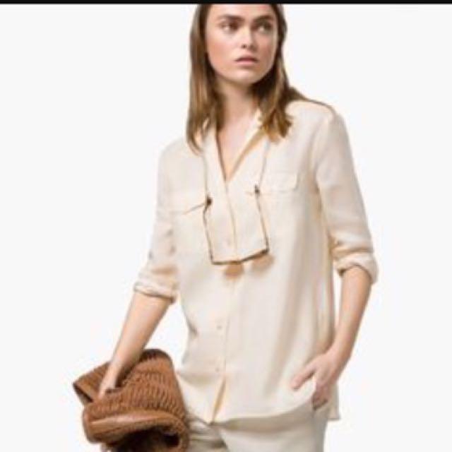 28a9f6ec47e45 3x Massimo Dutti Bundle Button Down Silk Shirt Blouse