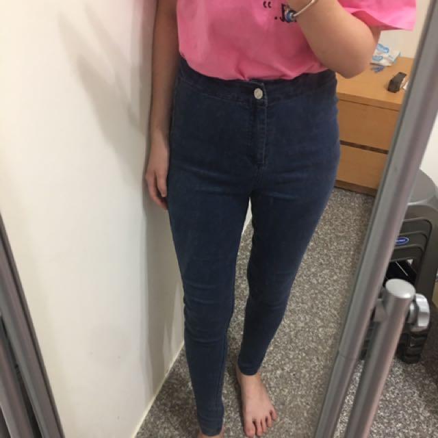 高腰牛仔褲👖