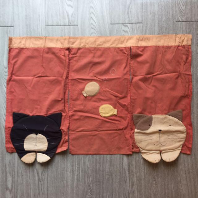 日本貓咪門簾