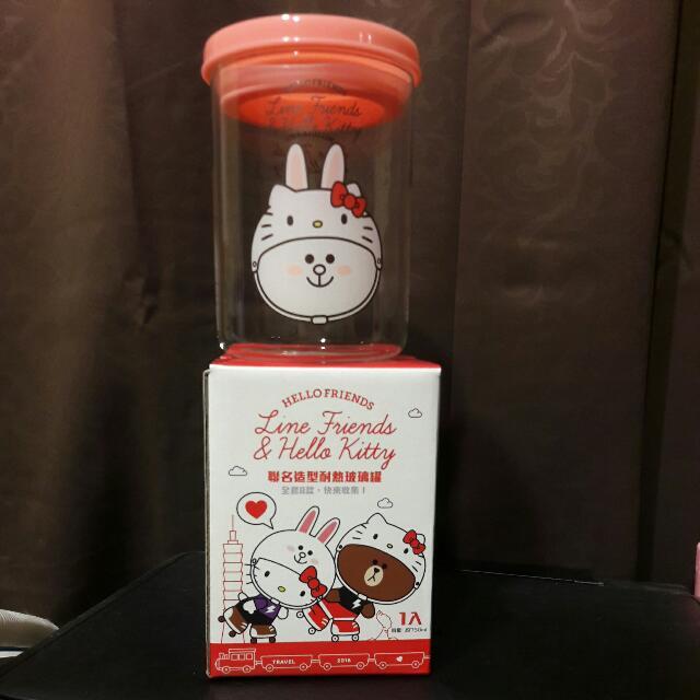 HELLO FRIENDS聯名造型耐熱玻璃罐
