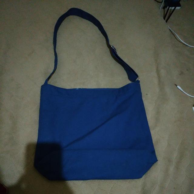藏青 側背帆布帶 (換物價兩百)