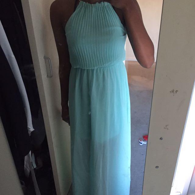 AQUA BLUE MAXI DRESS