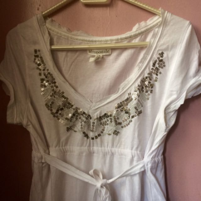 Authentic Aeropostale Skirt Blouse in White