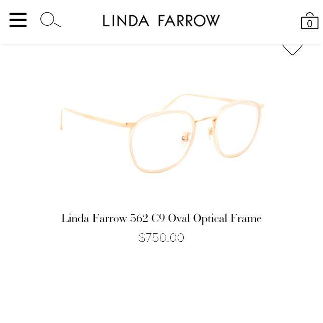 e7d9b66b59f Authentic Linda Farrow Luxury UK LF2223 White Spectacle Eyewear + Box Case  Cloth Card