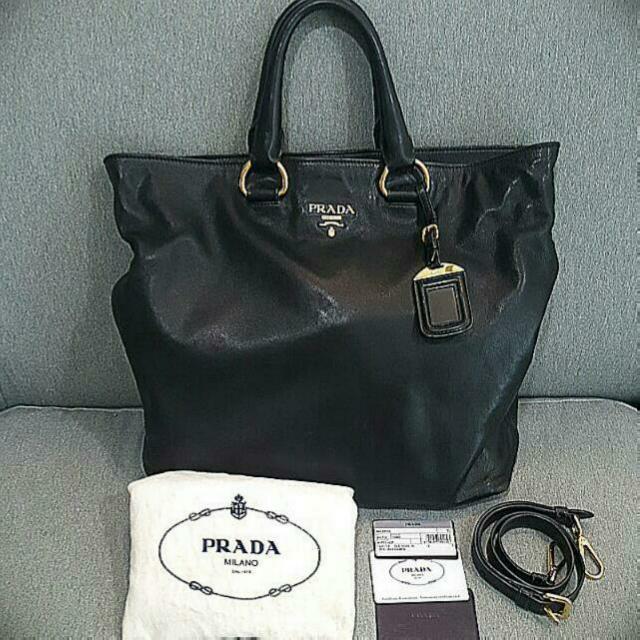 aeba94898e7ffa Authentic Prada Bn1713 Soft Calf Nero Bag, Luxury, Bags & Wallets on ...