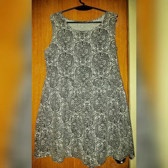 Aztec/Floral Printed Dress