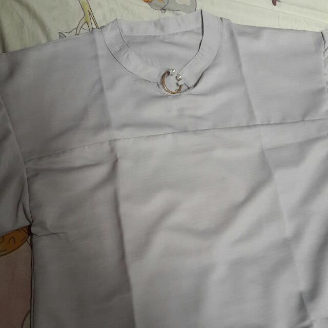 SALE NEGO BOLE Baju Grey... Size Jumbo Xl Ld 100an Cm