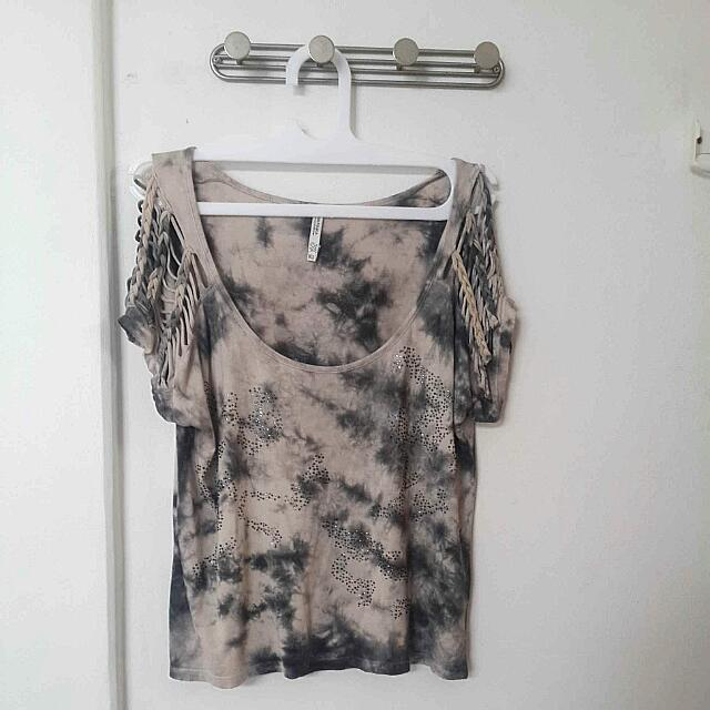 Bershka Acid Wash Top Size M