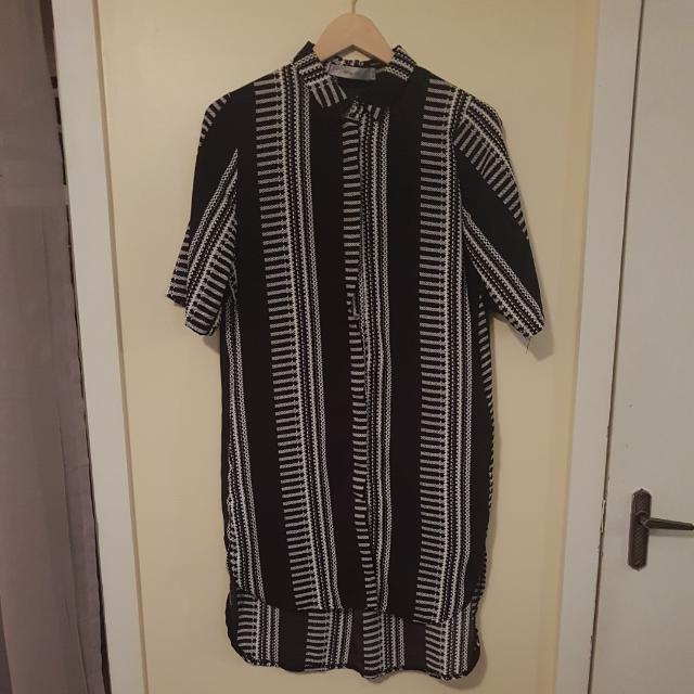 Black & White Shirt Dress Size 10