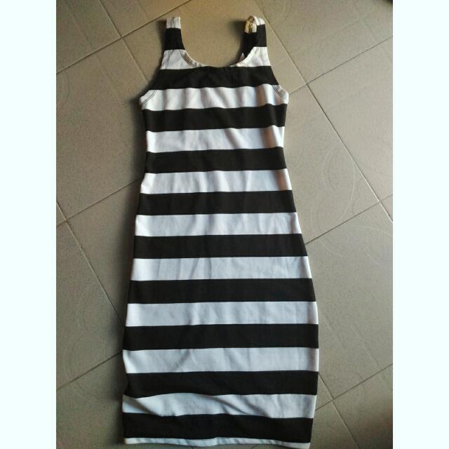 Black And White Stripes Bodycon