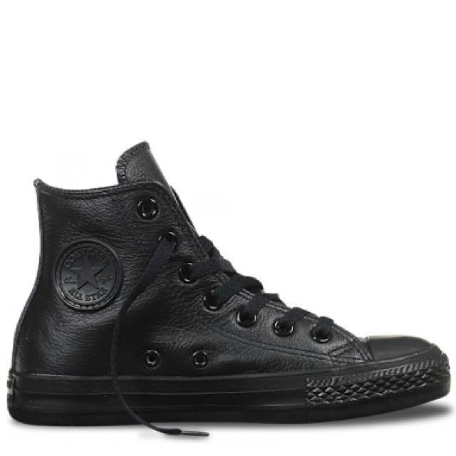 Black Leather Converse