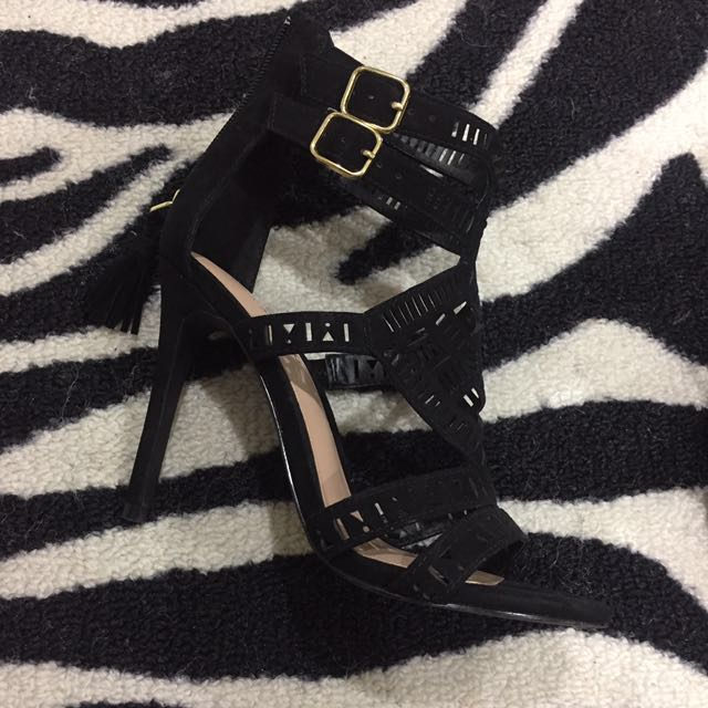 Black Open Heels - From Call It Spring.