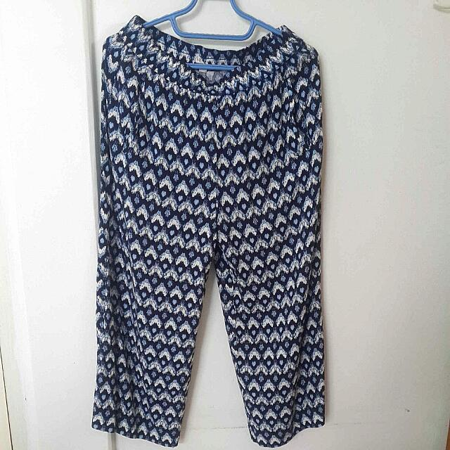 Blue Harem Pants Size L-XL