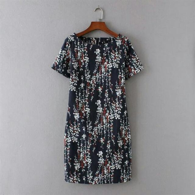 Blue Small Floral Dress