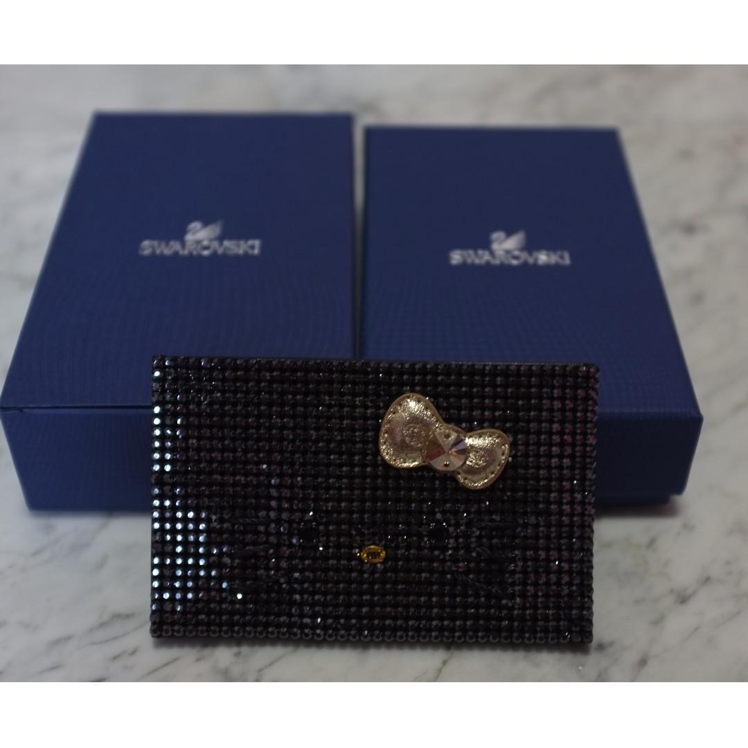 dfaa3f31d BN Black Swarovski Hello Kitty Namecard Holder, Women's Fashion, Bags &  Wallets on Carousell